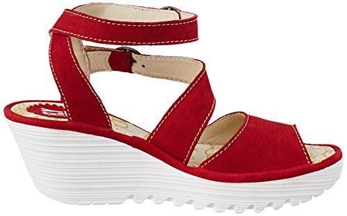 Vola Londra Damen Yisk837fly Riemchensandalen Rot (rossetto Rosso Suola Bianca)