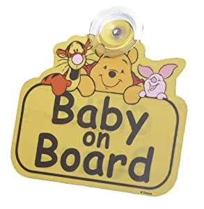 Winnie The Pooh Baby On Board Sign (Multicolor)