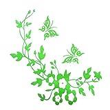 Amyria Abnehmbare WC Aufkleber DIY Türaufkleber Selbstklebende Wandtattoo Wasserdichte Tapete PVC Wandaufkleber Demontierbare Wandsticker für Toilette Badezimmer Grüne Blume