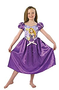 Princesas Disney - Disfraz de Rapunzel para niña, infantil 3-4 años (Rubie