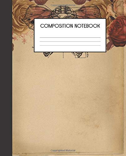 : Steampunk Grunge | College Ruled Notebook | Lined Journal | 100 Pages | 7.5 X 9.25