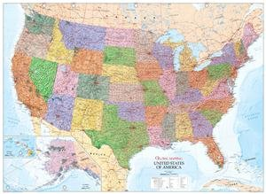 United States of America Wall Map (USA) - Paper