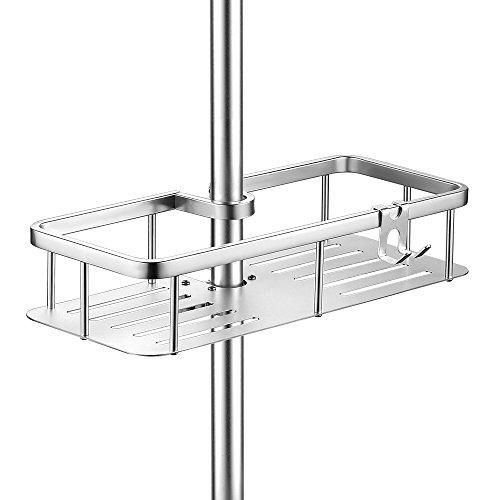 General Duschablage Duschstangen Zum Hängen aus Aluminium Große Kapazität Badezimmer Duschregal Ohne Bohren zu installieren mit 1 Hook