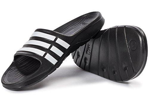 adidas Duramo Slide G06799, Ciabatte da mare/piscina unisex bambino Nero
