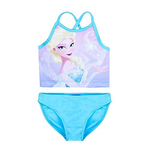 Disney Mädchen Die Eiskönigin, Frozen ELSA Tankini, Bikini, blau, Größe 98, 3 Jahre (Mädchen Frozen Bikini)