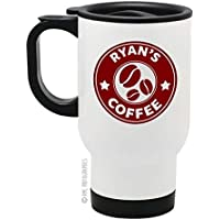 Your Name Coffee - Personalised Stainless Steel Travel Mug - Coffee Bean Design