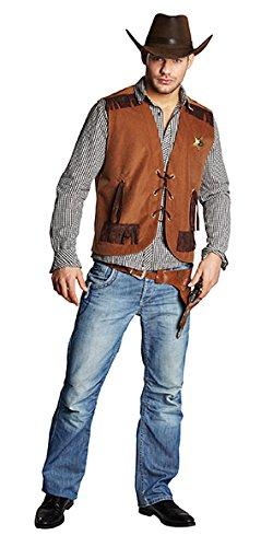 Sheriff-Weste Sheriffkostüm Cowboyweste Wilder Westen Kostüm für Herren
