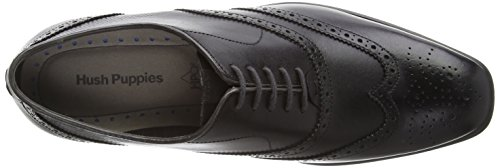 Hush Puppies Griffin Maddow, Brogues Homme Noir (Black)