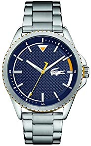 Lacoste Mens Quartz Watch, Analog Display and Stainless Steel Strap 2011030