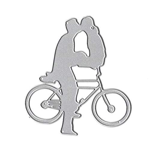 WuLi77 Fahrrad-Kuss Metall Stanzschablone Die Stanzen Zum Basteln Von Karten, Prägeschablone Für Scrapbooking, DIY Album, Papier, Karten, Kunst, Dekoration