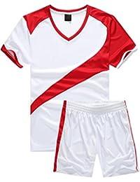 aa380b6ed15b1 BOZEVON Hombres Niño Trajes de Fútbol Ropa Deportiva Conjunto de Camiseta y Pantalones  Cortos Traje de