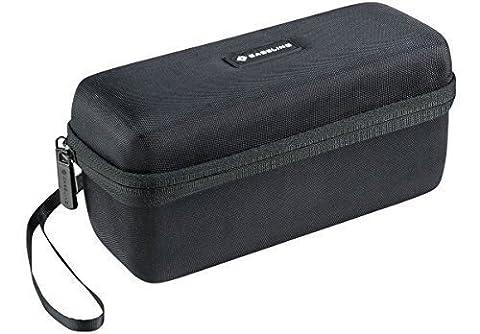 Caseling Hardcase Transporttasche für Bose Soundlink Mini Bluetooth-Lautsprecher (stabil, tragbar, für Bose und Mini II, Ladegerät, für die Wand, Ladekabel für Bose Cradle. der Silikon-Überzug.