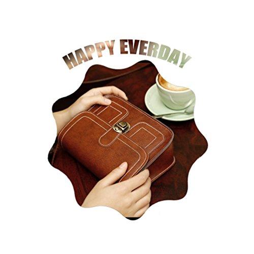 Vbiger Mini Borse Messenger Pelle Sintetica Borsa Crossbody Elegante borsa a tracolla per donne(Marrone chiaro) Marrone chiaro