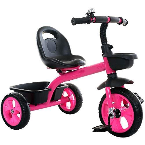 FFyy JKleinkind-Dreiräder Balance Bike Kinder-Knöchel-Dreirad Comfort Trike Rutschfestes Vorderfußpedal Jungen Mädchen Kinder-Trike Kleinkind-Dreiräder