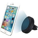 MyGadget Support magnétique Voiture Universel - Pince Grille d'aération - pour Smartphone par ex. Apple iPhone X / 8 Plus / Samsung Galaxy S8 Edge / S7