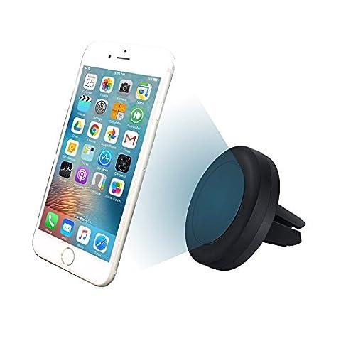 MyGadget© KFZ Auto Magnet universal Handyhalterung Halter für Lüftung kompatibel für Smartphone u.a. iPhone 7 6 5 Samsung Galaxy S7 S6, Navi in