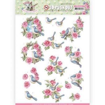 Find It 3D-Stanzbogen - Amy Design - Spring is Herel - Vogel und Rosen