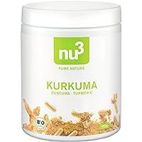 nu3 Premium Bio Kurkuma (Curcuma) | mit Piperin hoch-dosiert in veganen Kapseln | 200 Stück | enthält natürliches Curcumin Piperin aus schwarzem Pfeffer-Extrakt | Laborgeprüft aus Deutschland