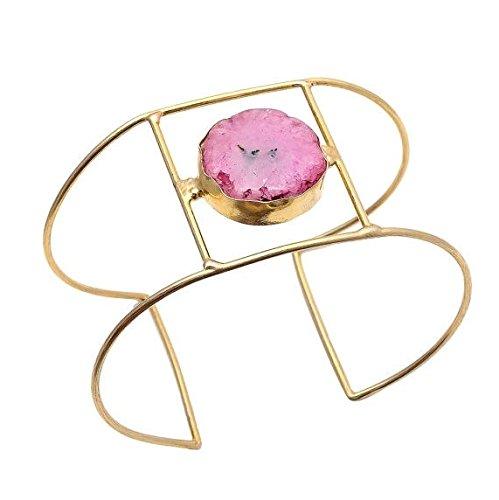 pink-agate-bracelet-statement-bracelet-druzy-bracelet-cuff-bracelet-gold-bracelet-costume-jewellery-