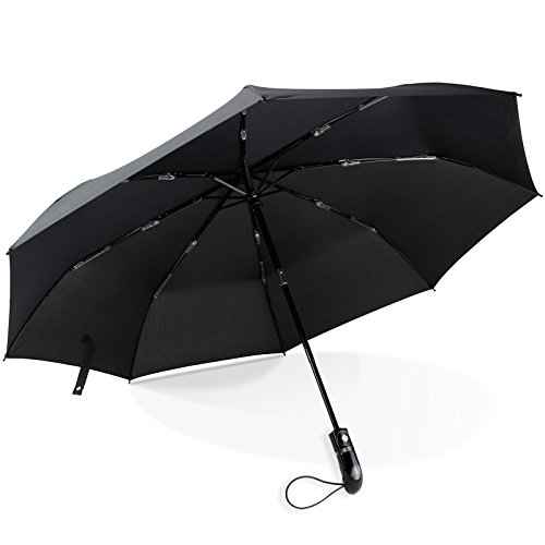 Regenschirm Taschenschirm EXTREM STABIL Sturmfest bis 150 km/h Auf-Zu Automatik von Fnova, Leicht Kompakt Reise/Outdoor Regenschirm mit wasserdichte Teflon-Beschichtung, Ergonomischer Griff, 106cm GRÖßER Durchmesser