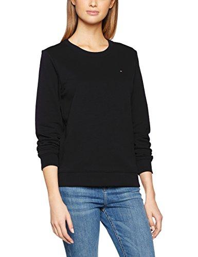 Tommy Hilfiger Damen Sweatshirt Flag, Blau (Midnight 403), 34 (Herstellergröße: XS) Crewneck Damen-sweatshirt