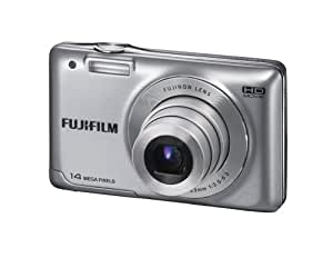 Fujifilm FinePix JX500 14MP Point-and-Shoot Digital Camera (Silver) with SD Card, Carry Case