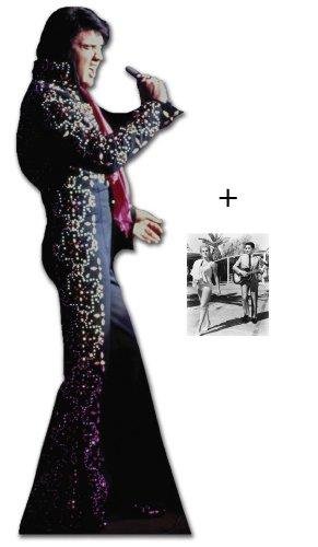 Elvis Presley Singing Tragen Black Jumpsuit - Lebensgrosse Pappfiguren / Stehplatzinhaber / Aufsteller - Enthält 8X10