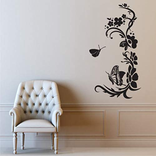 Wandtattoo Kinderzimmer Wandtattoo Wohnzimmer Swirly Flower Butterfly For Living Room Home Decals Bedroom Art Decoration Poster Murals for living room -