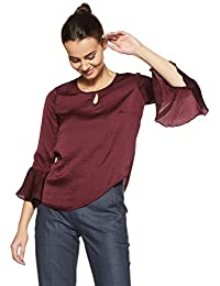 Annabelle By Pantaloons Women's Plain Regular Fit Top