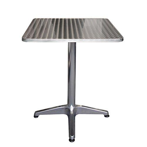 Balkonmobel Set Bistrotisch Aluminium Tischplatte In Schleifoptik