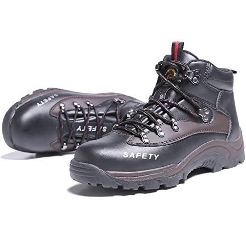 YXWa Ingenieurstiefel Sicherheitsschuhe Männer Sicherheitsschuhe Stahl Kopf Schuhe Arbeit Schuhe Knöchel Leder Stahl Mittelsohle Schutz Sportbekleidung für Männer (Farbe : B, größe : 38)