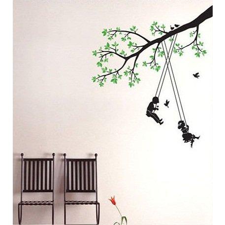Ambiance-Live Sticker Mural Arbre et Enfants