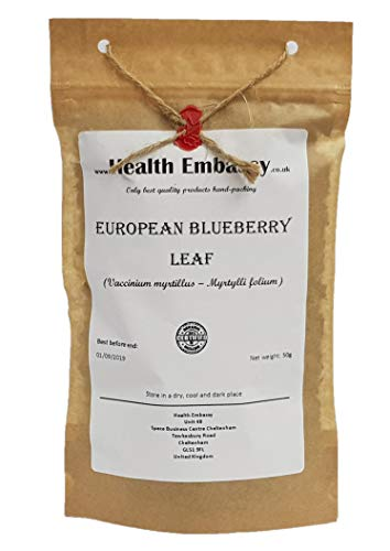 accinium myrtillus - Myrtylli folium) 50g / European Blueberry Leaf 50g - Health Embassy - 100% Natural ()
