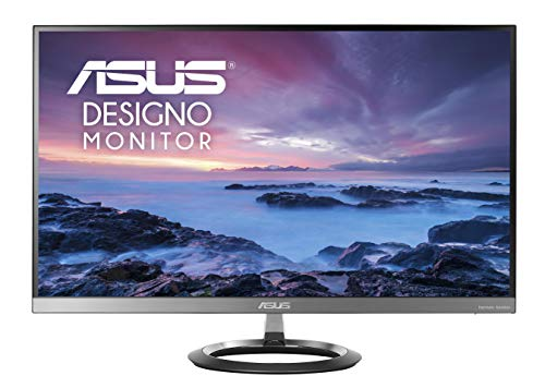 "ASUS Designo MZ27AQ 27"" Wide Quad HD LED Flat Grey computer monitor - Computer Monitors (68.6 cm (27""), 2560 x 1440 pixels, Wide Quad HD, LED, 5 ms, Grey)"