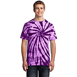 Port & Company – Essential Tie-Dye Tee. PC147 Morado morado XL