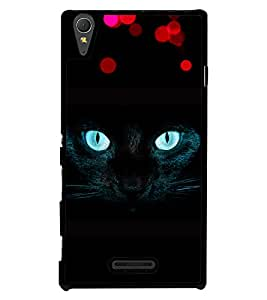 Printvisa 2D Printed Cat Designer back case cover for Sony Xperia T3 - D4490