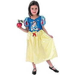 Disney Disfraz de nieve para niña, talla M (5-6 años) (I-889552M)