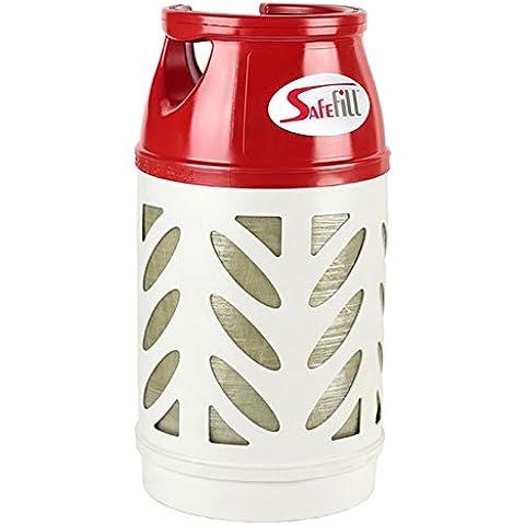 safefill ricaricabile a gas GPL Cilindro, bottle. semitrasparente e luce peso 10kg, 24litri