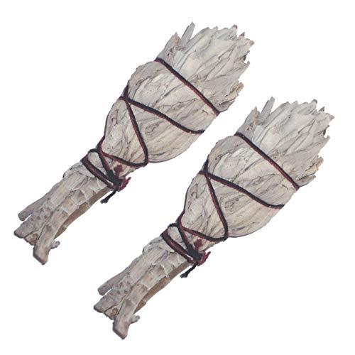 Packung mit 2 kalifornischen weißen SAGE kleine Fackel Style Smudge Sticks 4 '' Räucherfackel - Smudging - Wilden Salbei