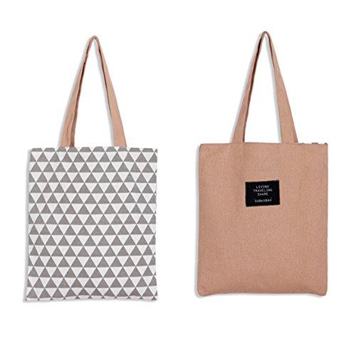 Modische Einkaufstaschen (Laat faltbare Einkaufstasche, wiederverwendbar, modische Umhängetasche aus Baumwolle, eine umweltfreundliche Lösung zum Transport von Einkäufen, Handtasche, 5Farben, Rose, 37x33cm)