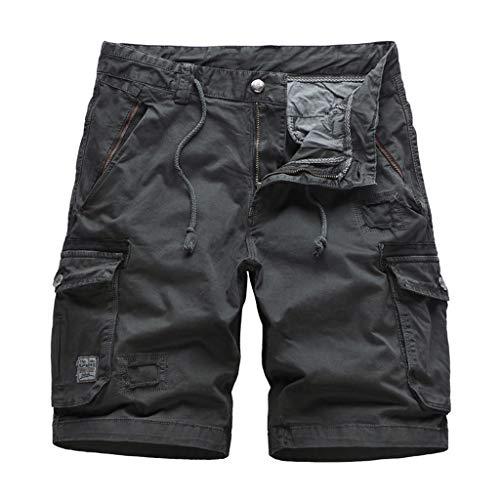 MEIbax Herren Outdoor Casual Strandshorts Cargo Shorts Männer kühlen Sommer heiße Baumwoll Kurze Hosen ab Camo Kleidung Jogg Hose Baggy Hose