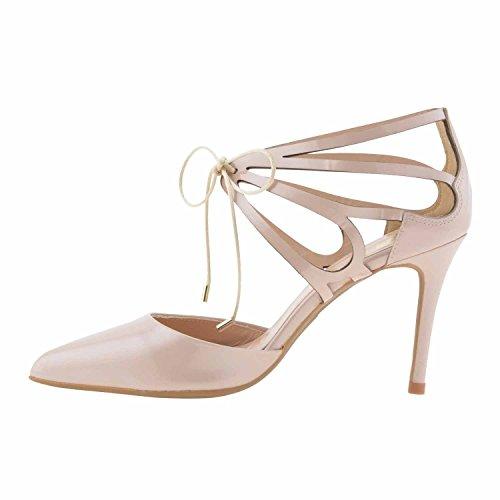 chaussures en cuir verni Beige