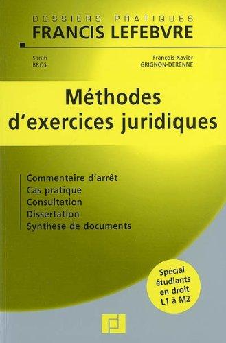 Méthodes d'exercices juridiques par Sarah Bros