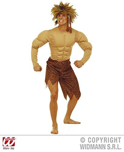 Herren-Kostüm Tarzan mit Muskeln Dschungel Mann Herrenkostüm Jungle, (Tarzan Für Kostüm Halloween)