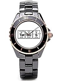 sjfy Vintage reloj de pulsera periódico elementos químicos elementos para hombre reloj banda ...