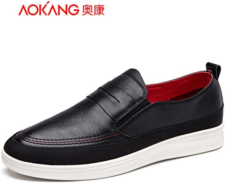 Zapatos de hombre Aemember cotidiana del hombre 男 Casual-Comfort ligero ,42, zapatos negros