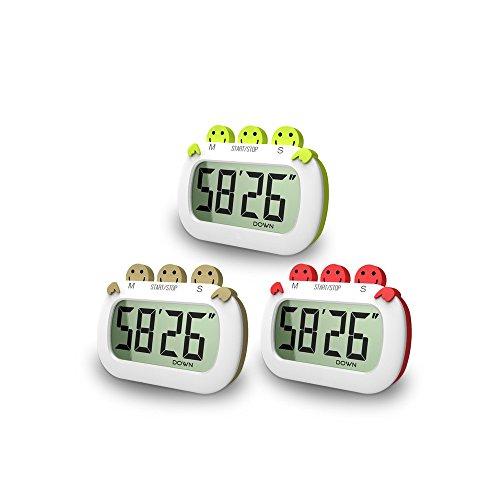 SinHan Digital Multifunktions-Timer Timer mit Premium Magnetic Backing für Kochen, Küche Timer, Backen und mehr (Loud Alarm, Countdown)
