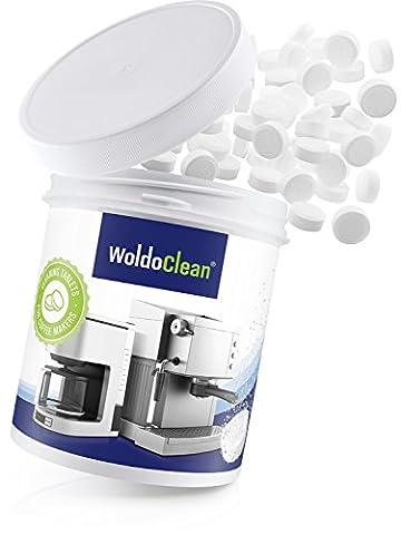 WoldoClean 260x Reinigungstabletten für Kaffeevollautomaten und Kaffeemaschinen Kaffeefettlöser (Top Loser Tee)