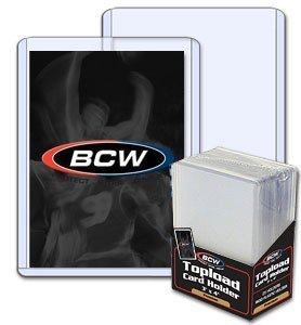 Case of BCW 3 X 4 Topload Card Holder - (Case of 40 Packs) Baseball & Single Sports Cards Top Load - Sportcards Card Collecting Supplies by BCW