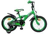 AMIGO - BMX Turbo - Bicicletta Bambini - 16'' (per 4-6 Anni) - con stabilizzanti - Verde